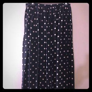 Polka dots plated skirt